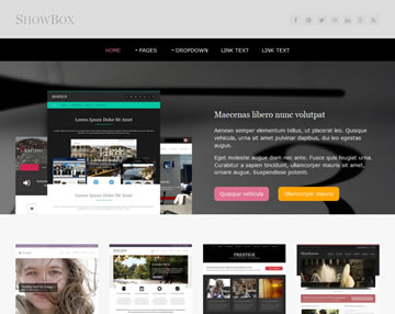 ShowBox Free Website Template