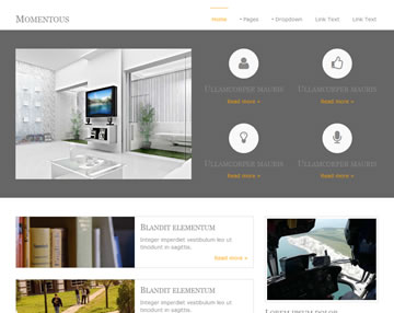 Momentous Free Website Template