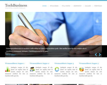 TechBusiness Free Website Template