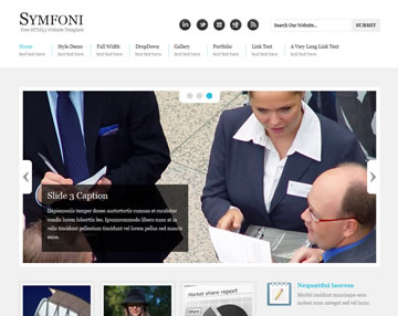 Symfoni Free Website Template