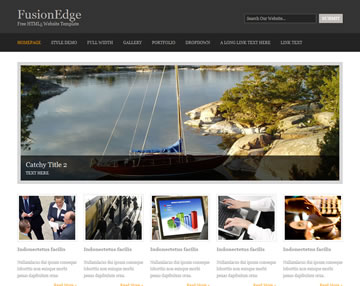 FusionEdge Free Website Template