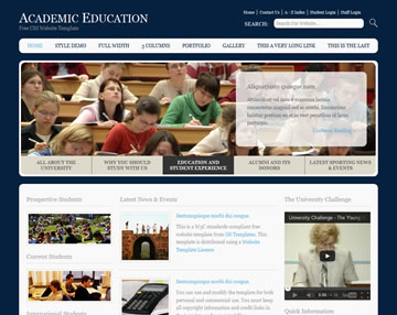Academic Education Free Website Template