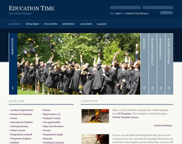 Education Time Free Website Template