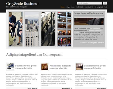 GreyScale Business Free Website Template